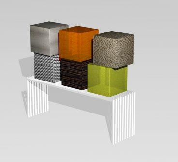 LxX_Mobili Ufficio_Segmenti di Gamba_+_Piano_+ Contenitori componibili a piacere_2008