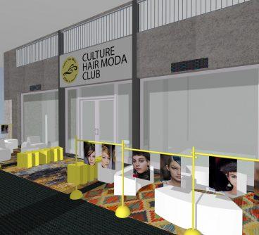 Hair Moda Club – Dehors design – Ferrara, I – 2019
