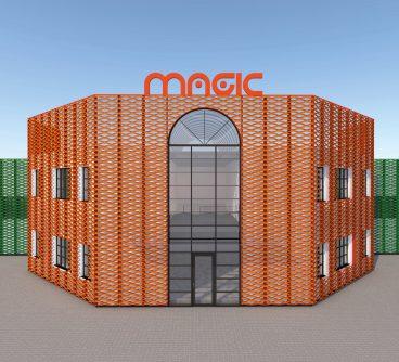 Uffici Produzione – Magic – Restyling facciate – Oleggio, I -2019